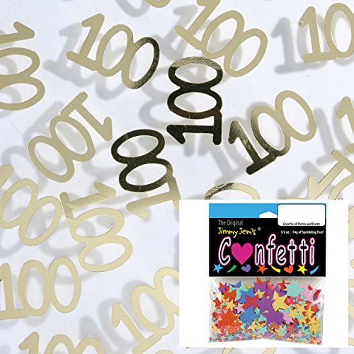 (Confetti Number 100 Gold - 2 Half Oz Bags (1 oz) Free Ship (7998))