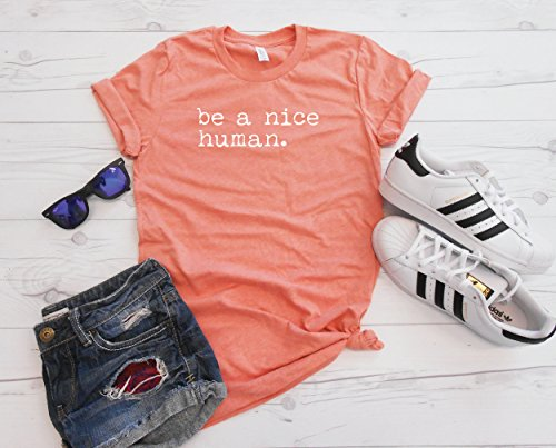 Be A Nice Human T-Shirt, Unisex Tee, Brunch Outfit, Womens Top, Workout Tee, by Strong Girl Clothing