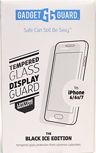 Gadget Guard The Black Ice Edition Tempered Glass Screen Protector for iPhone 6/6s/7 by Gadget Guard
