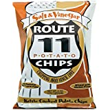 Route 11 Salt N Vinegar Potato Chips, kettle cooked in small batches, peanut free, dairy free, and a great tangy taste (4 bags (6 oz each))