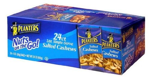 Planters Salted Cashews - 1 oz. bags (24 ct.) by Planters