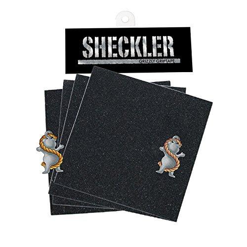 グリズリーグリップテープRyan Sheckler 4 Die Cut Squares +ステッカースケートボードGriptapeモデル:デッキby Grizzly