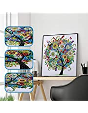 Amersin DIY 5D Special Shaped Diamond Painting by Number Kits, Full Drill Rhinestone Embroidery Cross Stitch Pictures for Christmas Home Decor