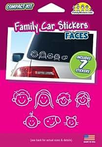 Car Stickers de caras familiares - contiene 7 pegatinas
