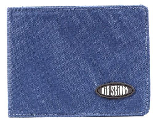 Big Skinny Men's Multi Bi-fold Wallet Navy