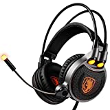 DZT1968 SADES R1 Stereo Wired Surround Gaming Headset Headband Mic Headphone