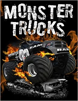 Amazon.com: Monster Trucks: Stress Relief Adult Coloring Book: 25 ...