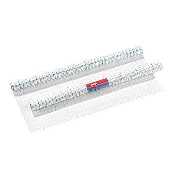 rei/ßfest umweltfreundlicher Kunststoff f/ür dauerhaftes Einbinden Herma 7002 Buchschutzfolie selbstklebend 1 Rolle 2 m x 40 cm, transparent farblos gl/änzend Gitterlinien