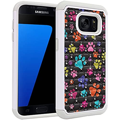 Samsung Galaxy S7 G930 Case, Fincibo (TM) Dual Layer Shock Proof Hybrid Hard Protector Cover anti-drop Silicone Sales