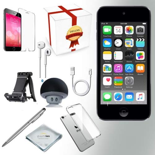 1 Ipod Touch - Apple iPod Touch 6th Generation 32GB - Space Grey with All-in-1 iTouch Accessories Kit Bundle