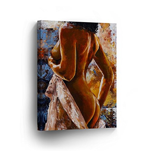 k Body Booty Half Lady Sexy Oil Painting Canvas Print Decorative Art Wall Home Artwork/Gallery Wrapped Stretched/Ready to Hang -%100 Handmade in The USA 12x8 ()