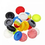 SwirlColor 10 Paar Ersatz-Silikon-Joystick Thumb-Stick Griffe Caps Abdeckung für PS4 PS3 PS2 Xbox One / 360 Game Controller