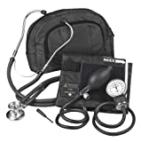 Veridian 02-12101 Fanny Pack Adjustable Aneroid Sphygmomanometer with Sprague Stethoscope Kit, Adult, Black