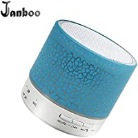 Janboo Mini Wireless Bluetooth Speaker With LED Colorful...
