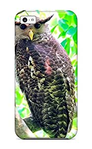 Excellent Iphone 5c Case Tpu Cover Back Skin Protector Spot-bellied Eagle Owl