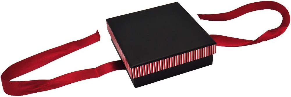 Gems on Display Striped Large Necklace//Chain//Pendant Boxes Sold in Packs of 12