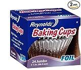 reynolds baking cups jumbo - Reynolds Baking Cups, Foil, Jumbo, 3 1/2 In (2 Pack- 48 Count)
