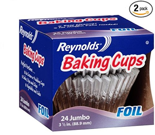 Reynolds Baking Cups, Foil, Jumbo, 3 1/2 In (2 Pack- 48 Count) ()