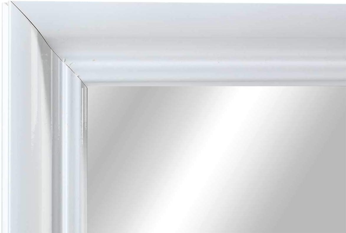 Spiegel 60 x 45 cm inkl Rahmen in wei/ß Hochglanz Aufh/änger