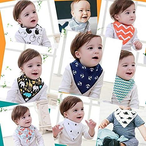 Blanco y Negro Scrox Bufanda de Saliva para beb/és Unisex para los Beb/és y los Ni/ños Peque/ños Bufanda de tri/ángulo
