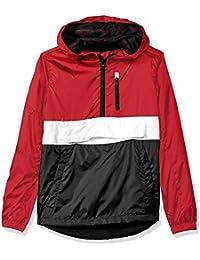 Big Boys' Colorblock Water Resistance Windbreaker Hooded Jacket