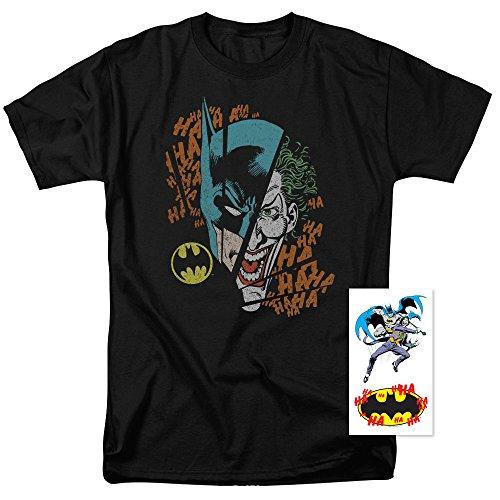 Batman+Shirts Products : Batman Vs. The Joker Split T Shirt & Exclusive Stickers