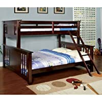 247SHOPATHOME Idf-BK604 Bunk-Beds, Queen, Walnut