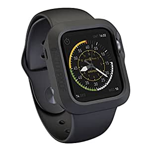 Actionproof Apple Watch Case 42mm - Cover Protection for Sports - Made with Premium and Durable Rubber [Laperen] - Ultra Lightweight Apple Watch Accessory - (Black)