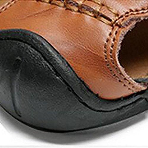Comfort Ocio Hombres Transpirable Amortiguación Plano Los De Casuales Equilibrio Pedal De Zapatos 42 Y amp; QSYUAN Bolsa Nuevos Toe Brown Zapatos Beach De Zapatos Sandalias Fondo Antideslizante OWq6tY
