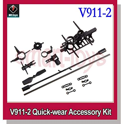 Yoton Accessories V911 Quick-wear Accessory Kit Main Frame SwashPlate Tail Blade flybar Tail Boom Tail Motor Seat Central Shaft - (Color: v911 ()