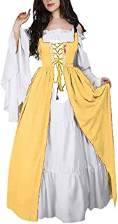 LILICAT✈✈ Conjunto de Dos Piezas de Vestido Cuadrado Medieval corsé del Paquete del corsé Medieval de la Mujer Vestido Medieval Mujer Vestido Fiesta Mujer Largo Mujer Art Nouveau Vestido
