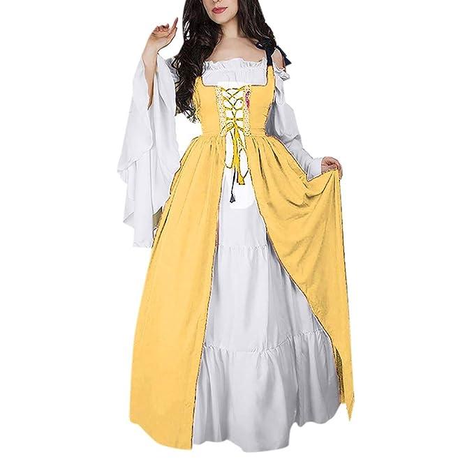 Vestidos De Fiesta Gótico Mujeres Vestidos Medieval Vestidos Cosplay Manga Trompeta Retro Cuello Cuadrado Disfraz Medieval Vestido Larga Vintage ...