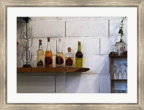 Collection of Pear Eau-de-Vie, Champagne Francois Seconde by Per Karlsson/Danita Delimont Framed Art Print Wall Picture, Silver Scoop Frame, 37 x 28 inches ()