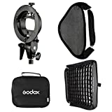 Godox 24x24inch/ 60x60cm Portable Rectangular Softbox Reflector Bowens Mount with Softbox Bag + Honeycomb Grid for Studio Strobe Photo Flash Speedlight
