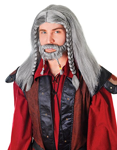Goatee Costumes Wig - Grey Lord Wig Plus Moustache & Goatee