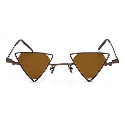 juqilu Metall Steampunk Stil Sonnenbrille Männer Frauen Coole Gläser Mode Dreieck Aushöhlen C4 p4gWpdYg2d