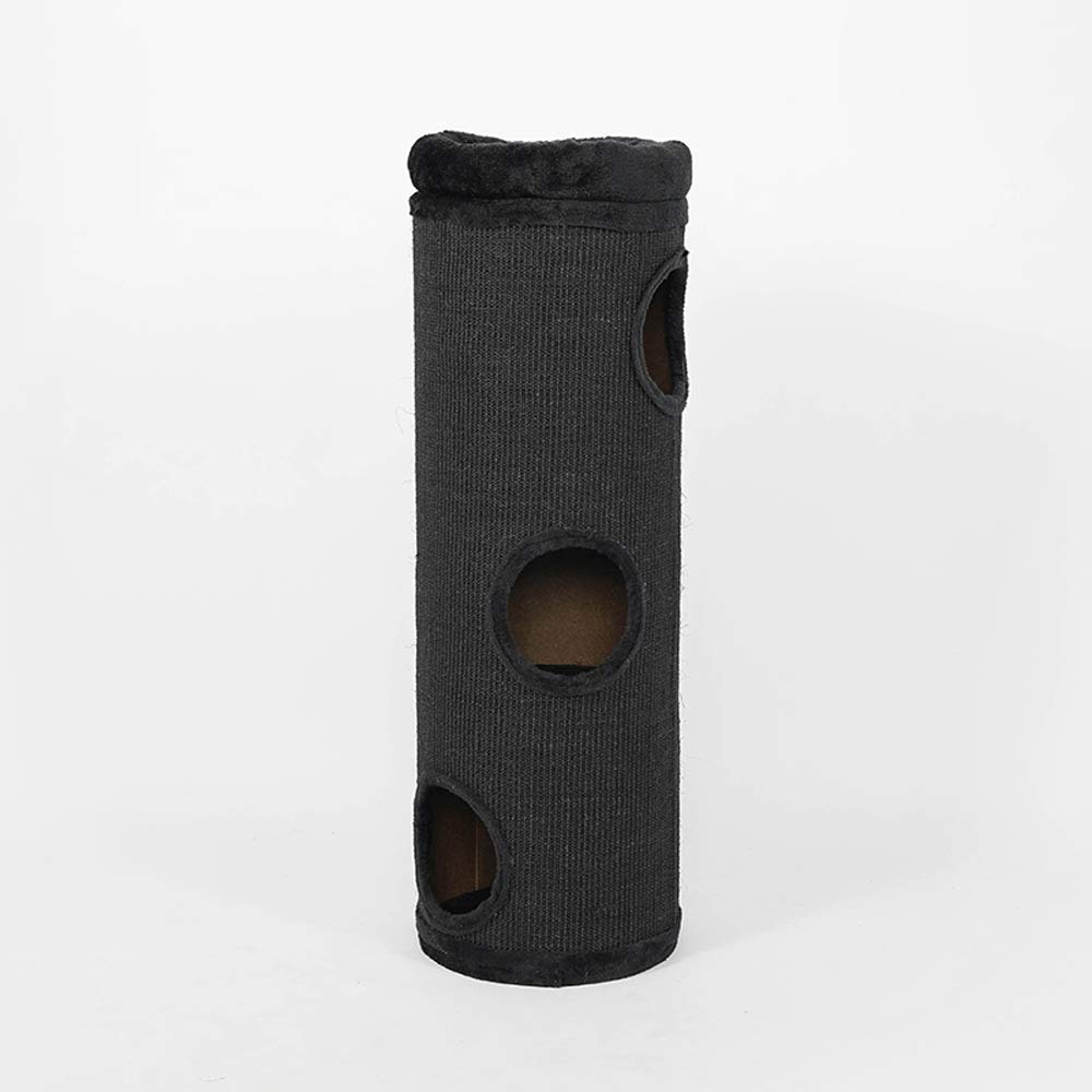 Black Small and Medium cat Toy Tower, sisal Material, Indoor Four Seasons Universal, 30in Long, color Optional (color   Black)