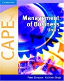CAPE Management of Business, Peter Stimpson, 0521696992