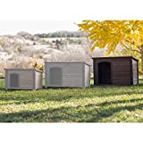 Boomer & George Log Cabin Dog House with Stainless Steel Bowls For Sale