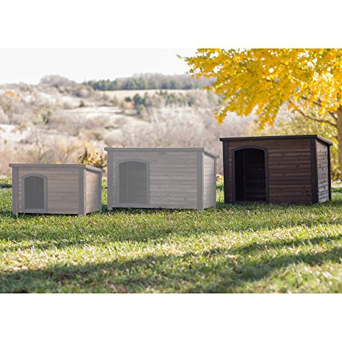 Boomer & George Log Cabin Dog House with Stainless Steel Bowls by Boomer & George