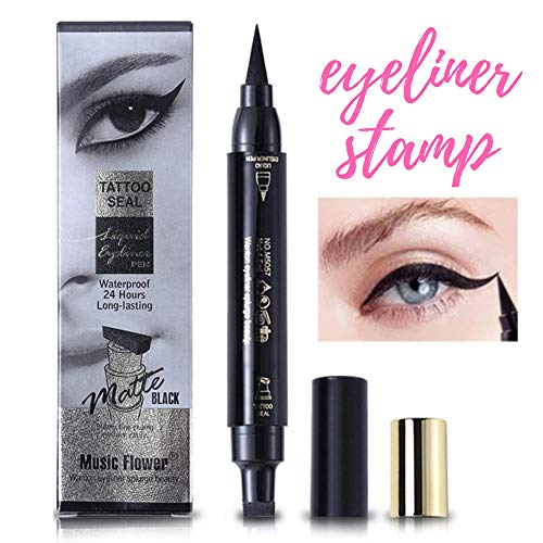 Eyeliner stamp - Winged eyeliner stamp - Liquid eye liner - Cat eye stamp - Waterproof, smudge-proof Liquid eyeliner pen - Blackest Black