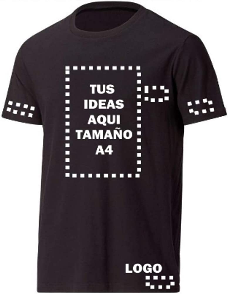 YISAMA Camisetas Personalizadas con Imagenes o Texto. T-Shirts para Regalos Amigos Parejas Padres Maestros, Uniformes.
