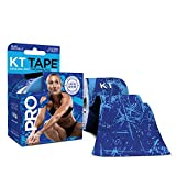 KT Tape PRO LIMITED EDITION Synthetic Kinesiology Tape Roll - 20 Precut 10 Inch I Strips - Blue Ice Crystals