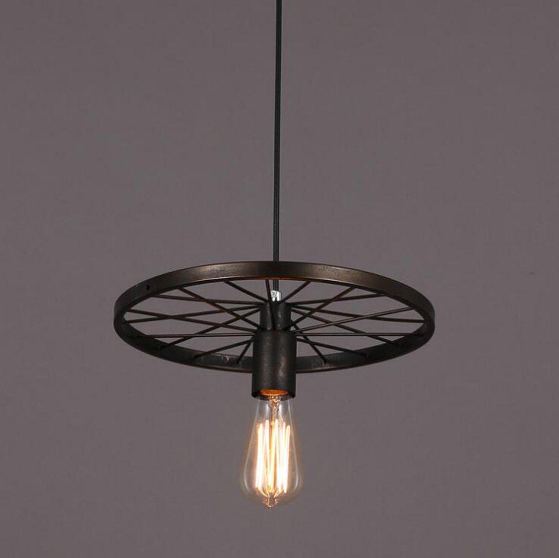 Ydxwan LED American Retro Metall Rad Kronleuchter Einzelkopf / 6 Köpfe / 3 Kronleuchter Kreative Ausstellung/Hotel / Restaurant/Korridor Industrie Wind Kronleuchter (ohne Glühbirnen)