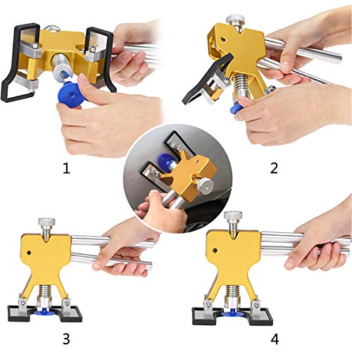 YOOHE 59 PCS Auto Body Paintless Dent Repair Tool Kits – Gold Dent Lifter Dent Puller Kit with LED Light Line Board for Car Dent Removal and Hail Damage by Yoohe (Image #1)
