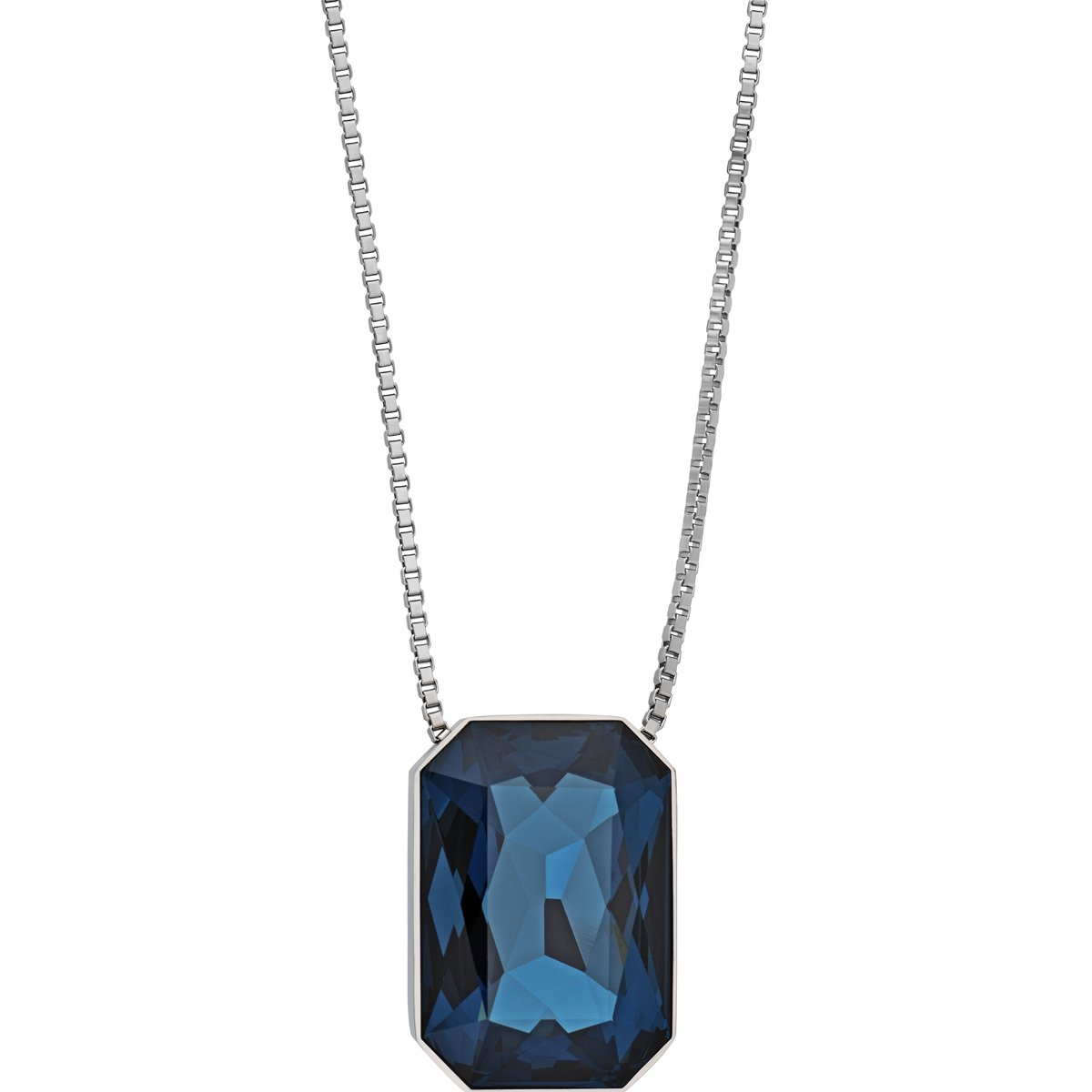 Swarovski If Verso 5092842 Ruthenium Plated Necklace w/Interchangeable Crystals