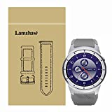 Lamshaw Classic Silicone Replacement Straps for ZTE Quartz Smartwatch(Grey)
