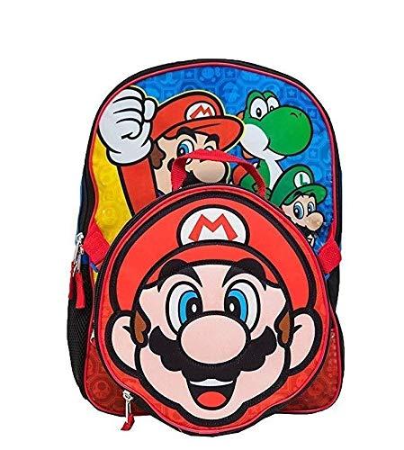 Super Mario Boys School Backpack Bookbag Lunch Bag Combo SET Kids -