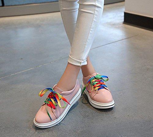 Scarpe Oxford Piattaforma Moda Donna Latasa Rosa