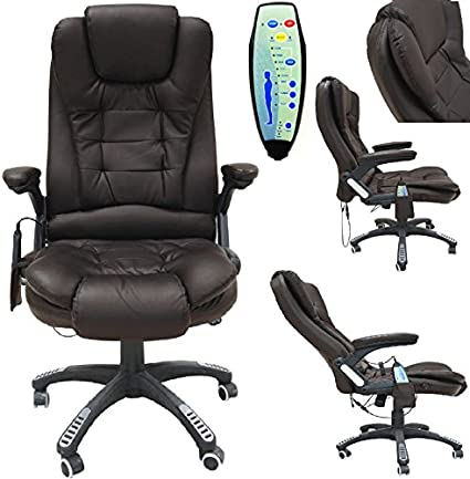 Leather executive gaming ordinateur de bureau pivotant inclinable fauteuil de massage